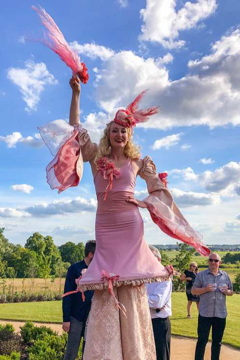 Entertainment-at-Studley-Castle,-Warwickshire