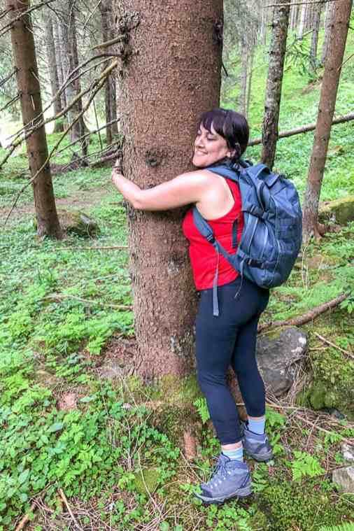 Tree-Hugging-in-Val-di-Rabbi,-Trentino