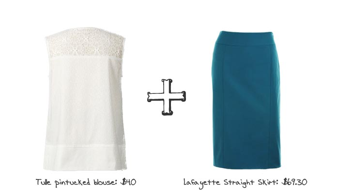 Boxy Tops & Pencil Skirts - Blue and White