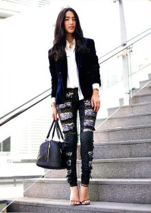 Sequin Leggings Outfit #1