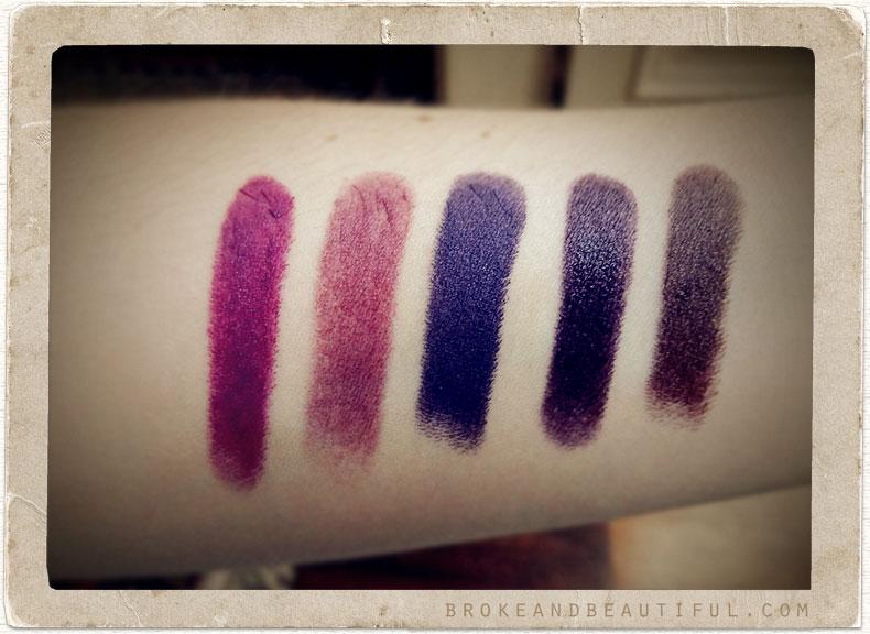 Favori Purple Lipsticks Review: MAC Potent Fig, MAC Cyber, MAC Heroine  QW87