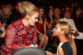 Adele & Beyonce at the 2013 Grammy Awards