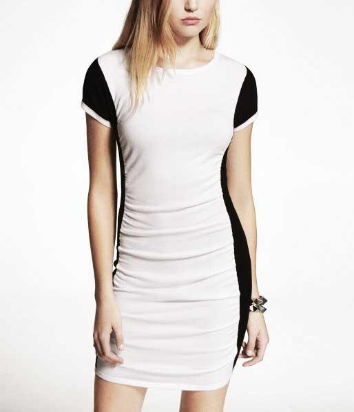 EXPRESS colorblock dress