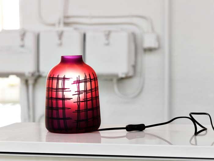 Ikea Purple Patterned Lamp