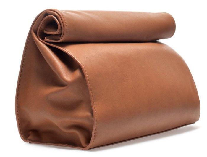 ZARA Paper Bag Messenger Bag