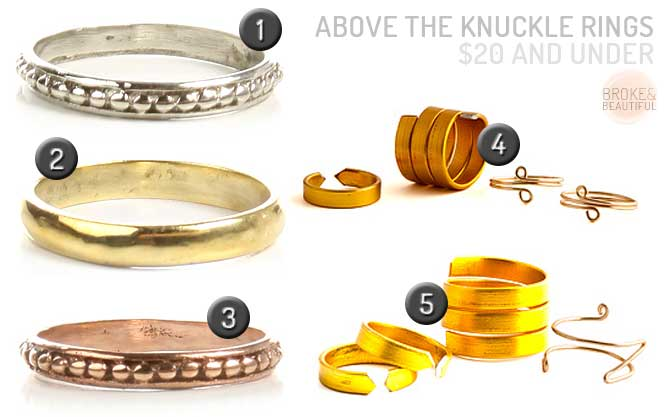 Above The Knuckle Rings $20 & Under