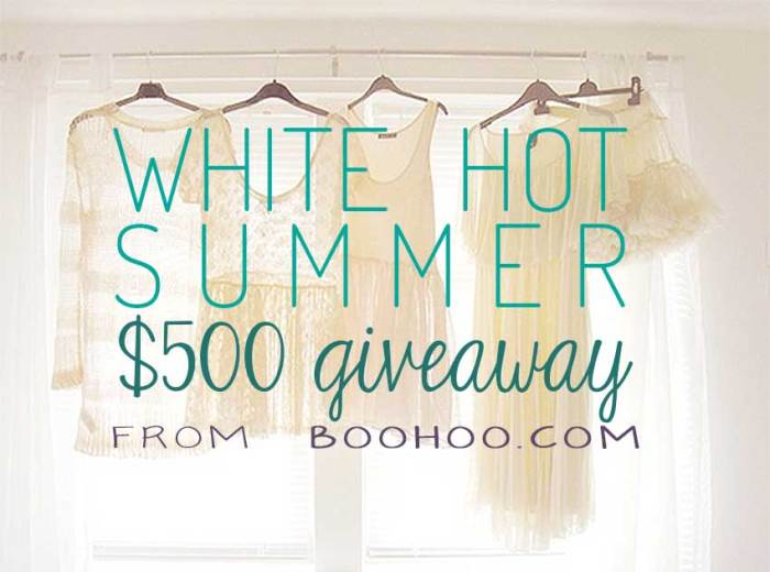 $500 Giveaway from Boohoo.com