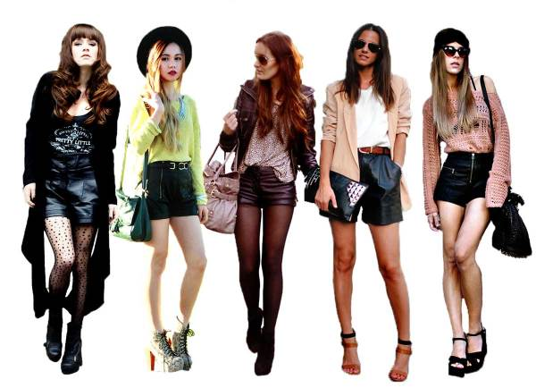 Seasonal Transition Piece: Leather Shorts