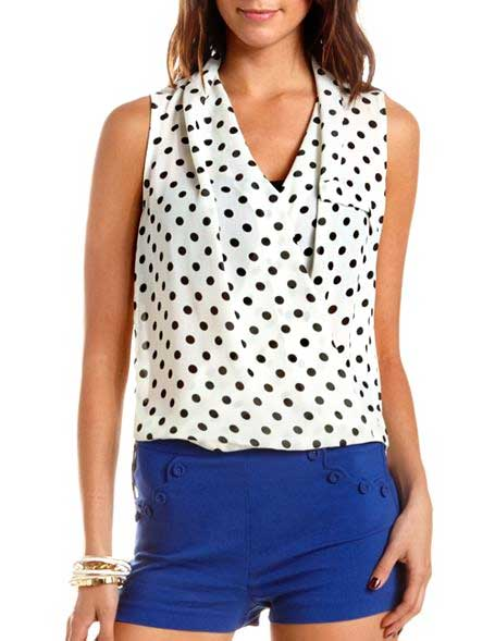 Charlotte-Russe-polka-dot-wrap-top