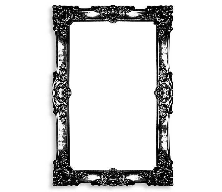 Baroque Frame Dry Erase Board