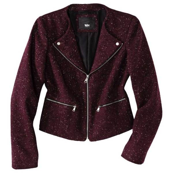 Mossimo Tweed Motorcycle Jacket
