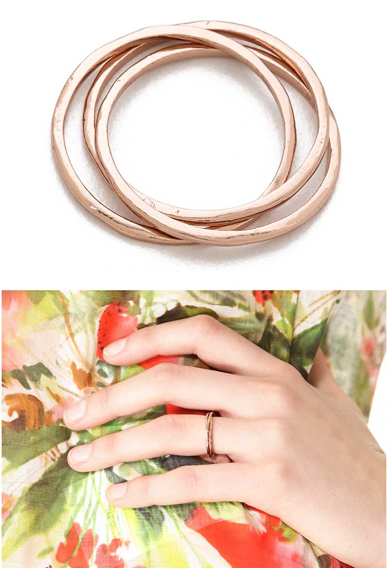 Gorjana Infinity Ring = Rose Gold