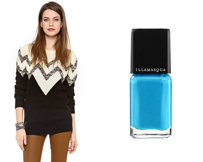 Bland Amp Loud Neutral Sweaters With Vivid Nails Broke And Beautiful