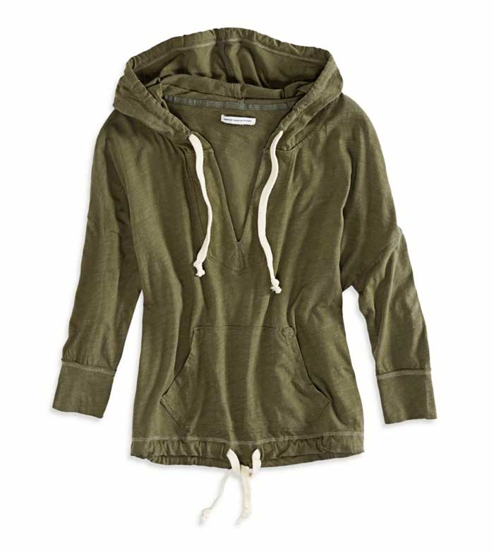 Daily Ddeal: AE Hoodie V Neck- Top