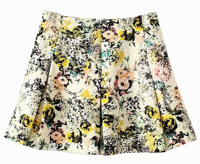 Almost Daily Deal: Choies Floral Newsprint Skater Skirt
