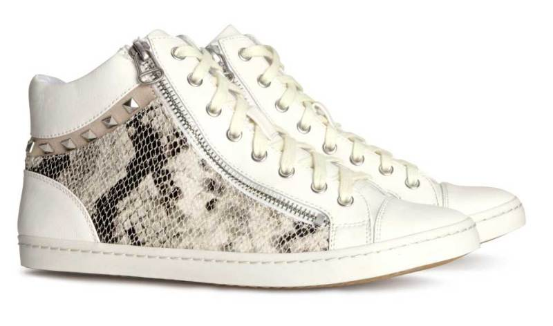 Daily Deal: H&M Snakeskin High Top Sneakers