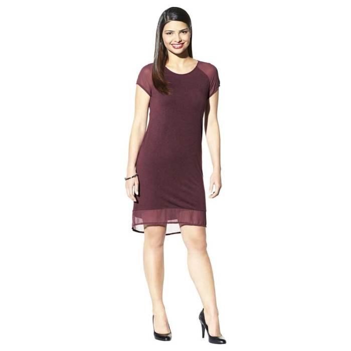 Daily Deal: Merona Chiffon Sleeve and Hem Dress