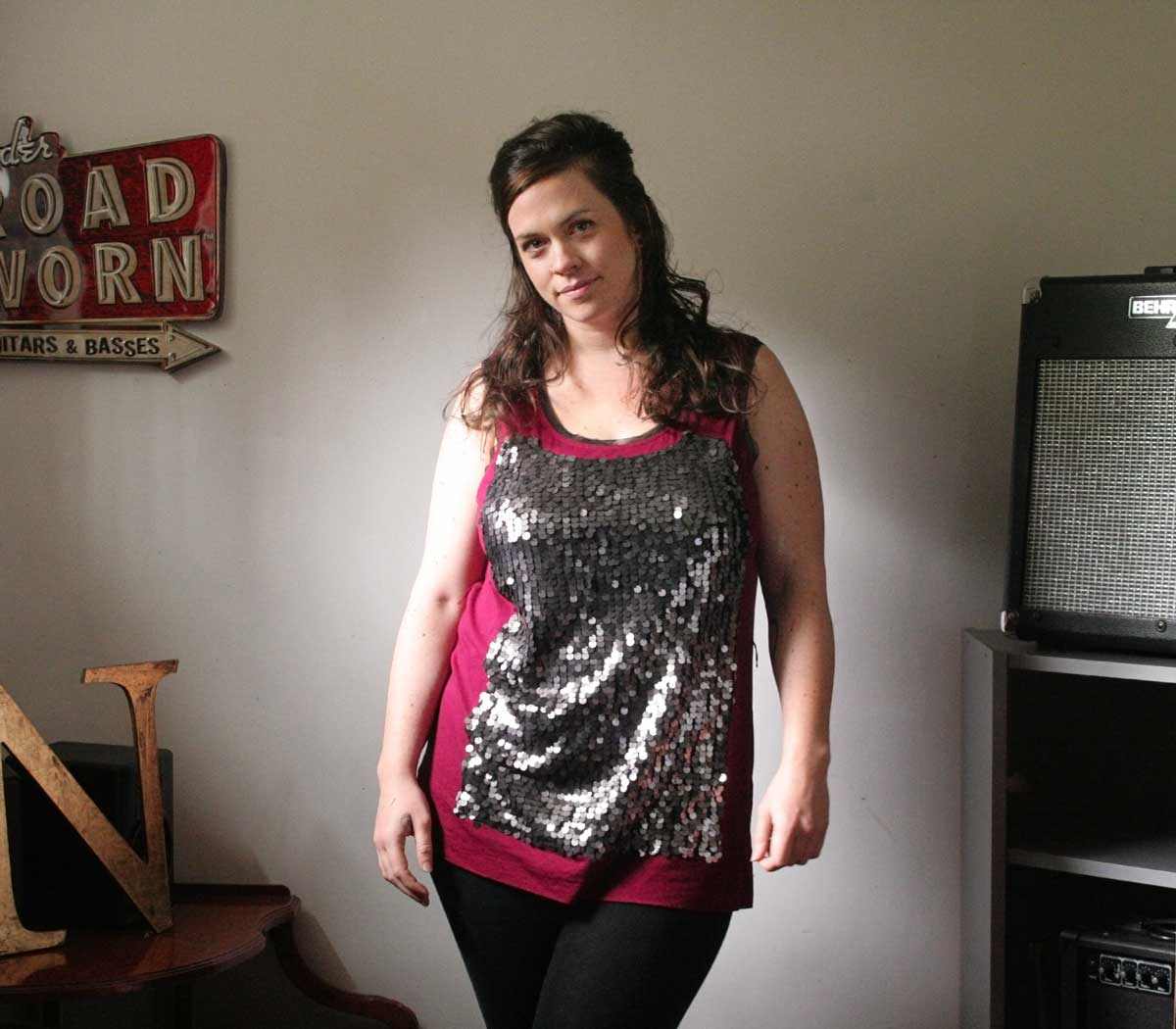 e8dd746dcb3a58 Simply Vera Vera Wang Top & Mossimo Leggings. I'm Wearing: 5 Outfits from  thredUP, $62 for Everything