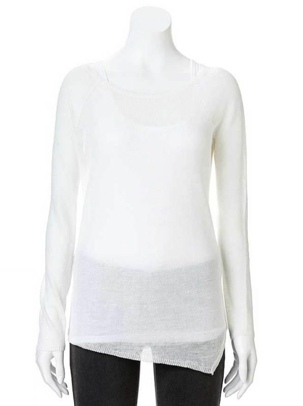 Jennifer Lopez Linen Blend Sweater