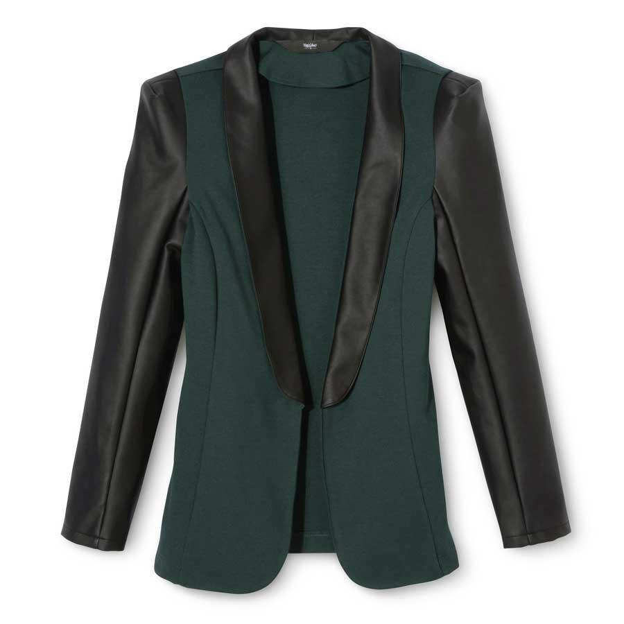 Leather tuxedo jacket