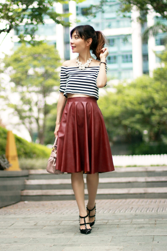 Mochaccinoland - Leather Midi Skirt