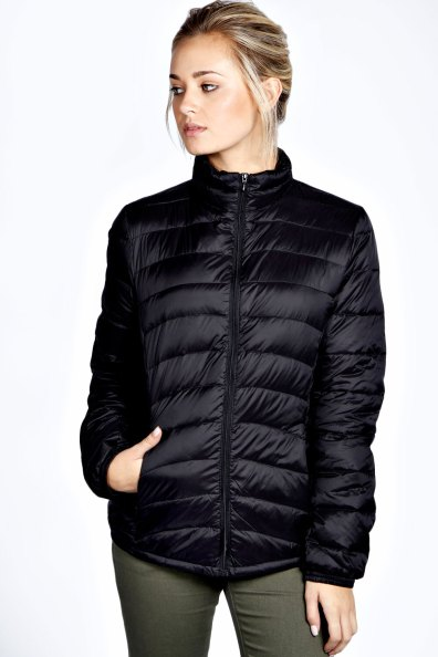 Boohoo Tyra Black Down Puffer Coat