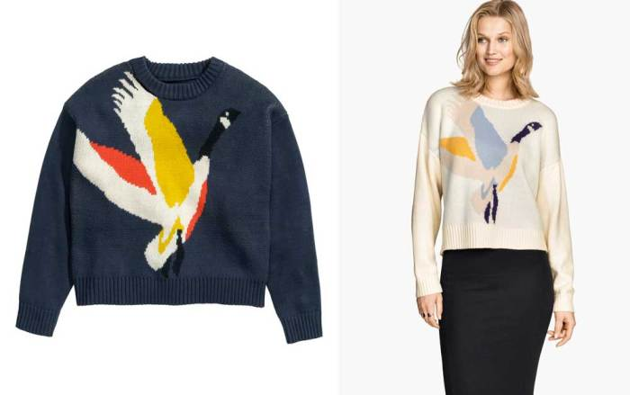 H&M Goose Sweater