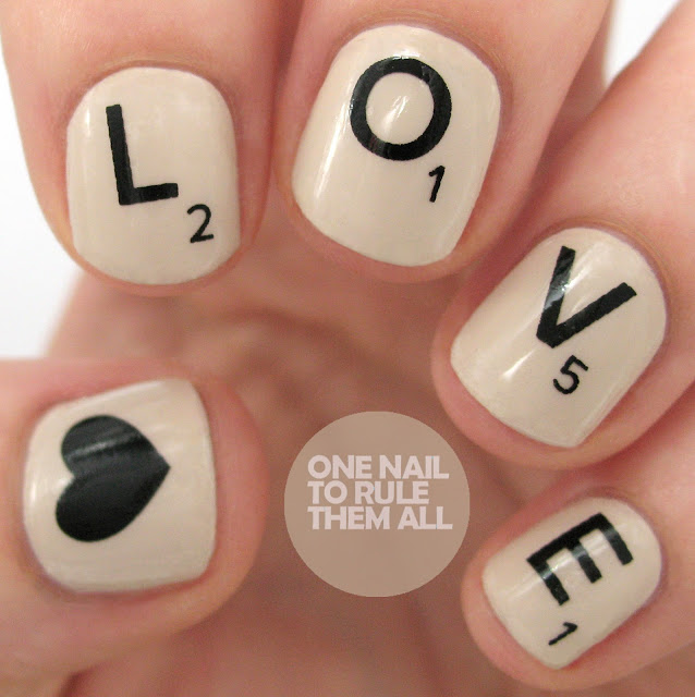 Love Scrabble Nail Wraps