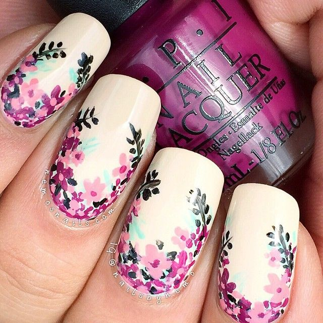 Want: DIY Floral Nail Art