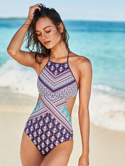 Victoria's Secret Beach Sexy Cut Out High Neck Swimsuit, $58.50