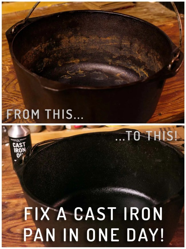 Before After Cast Iron Seasoning