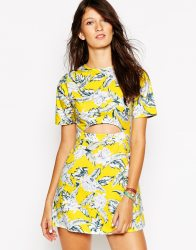 Motel Caitlin Dress in Dahlia Citrus Print, $43 (was $67)