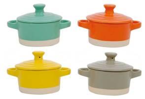 Round Stoneware Mini Bakers S/4, $16.99 (were $30)