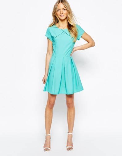 Wal G Skater Dress with Wide Pleats, $40 (was $67)