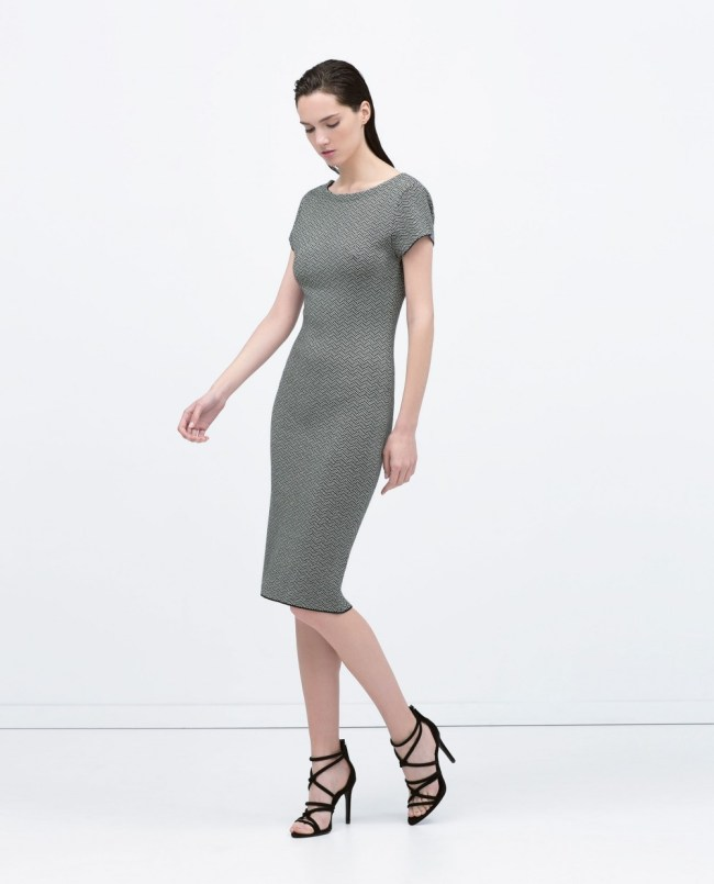 V-Back Jacquard Dress, $39.95 (was $79.90)