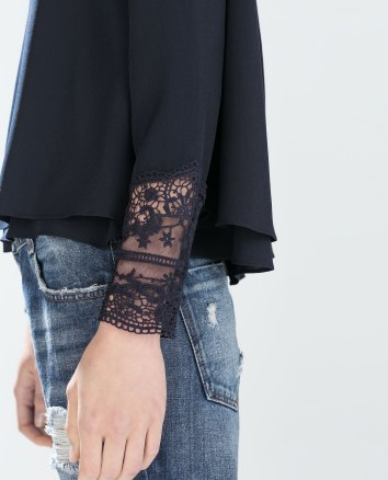 Top with Embroidered Cuffs, $19.95 (was $35.90)