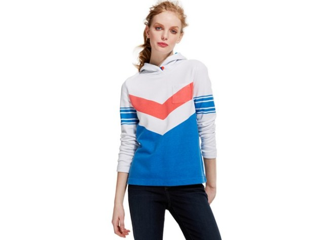 Tommy Hilfiger Summer Sweatshirt Hoodie with Chevron Stripe