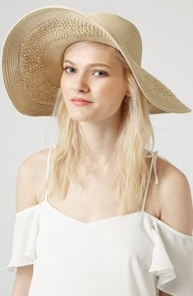 Topshop Crochet Floppy Hat, $40