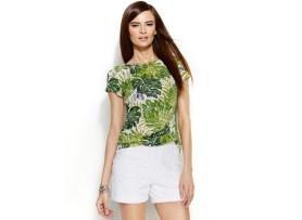 INC Palm Leaf Boatneck Top, $36.99