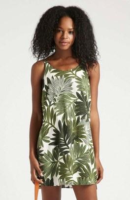 Topshop Palm Leaf Slip Dress, $60