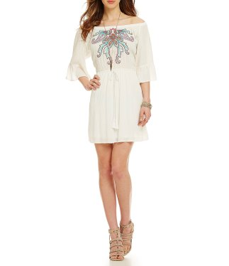 Chelsea & Violet Off Shoulder Embroidered Dress, $41.40 (was $69)