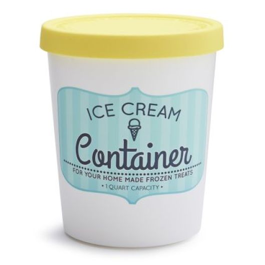 Quart Ice Cream Container - Yellow