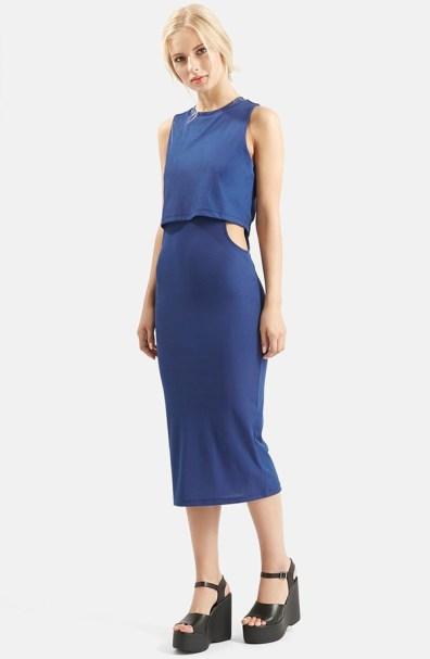 Topshop Cutout Midi Dress, $35.90