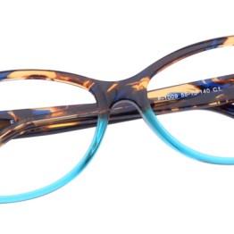 Tortoiseshell & Teal Cat Eye Glasses