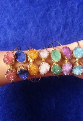 Trendy Panda Druzy Bracelets, $30.16