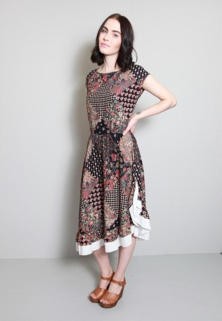 1970s Patchwork Boho Dress from Peekaboo Vintage