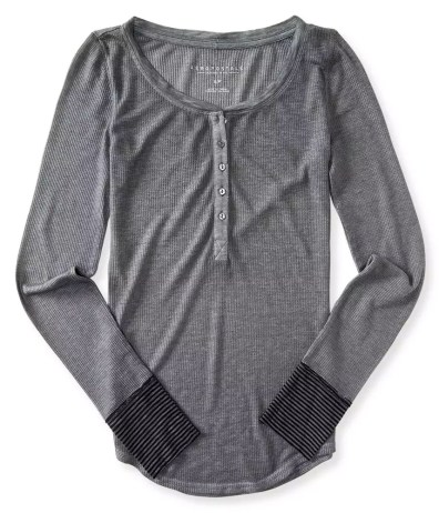 Aeropostale Grey Henley Thermal