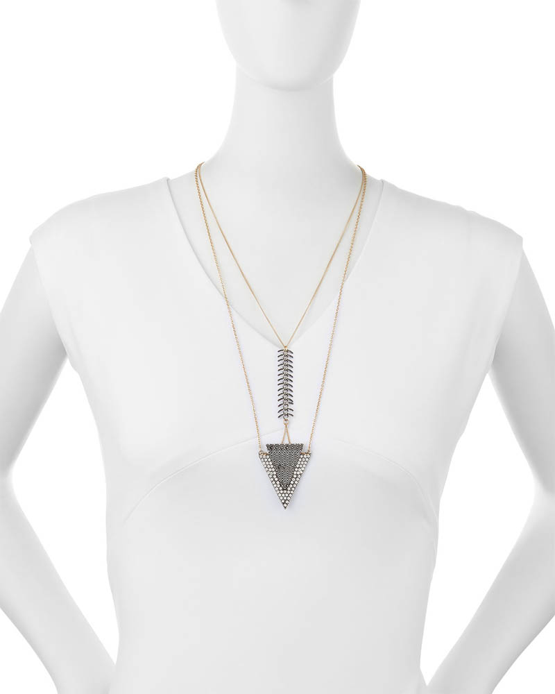 Lydell NYC Triangle Layered Chain Necklace 1