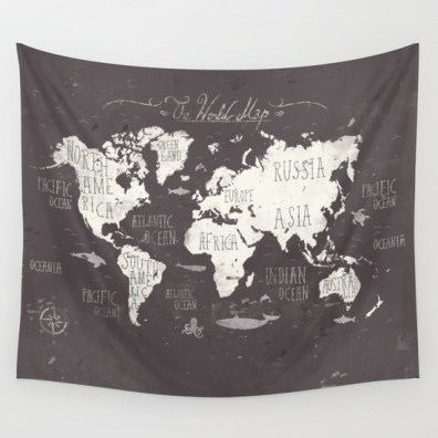 The World Map by Mike Koubou, $79