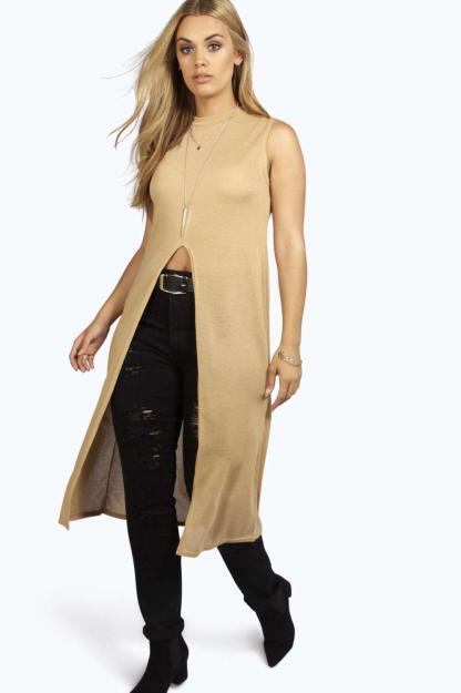 Boohoo Plus Kelly Knit Maxi Top